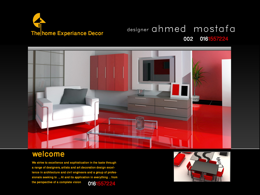 The home of experience decoration designer experiance for Household experience design