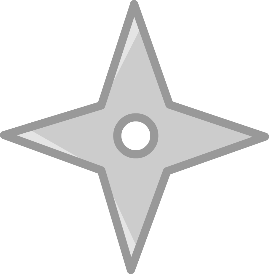 Ninja Star (Commission) by kitkatyj on DeviantArt